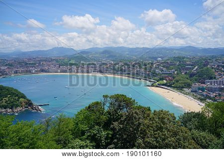 La Concha, San Sebastian Bay from Mount Igueldo