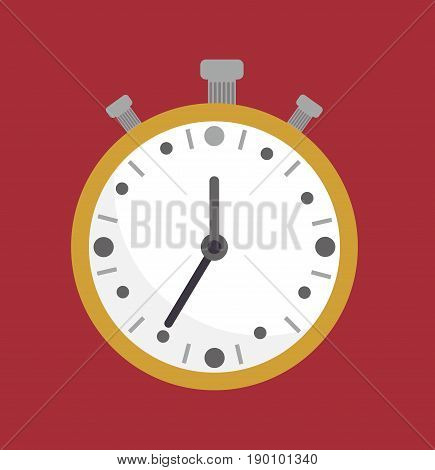 Stopwatch. Countdown concept. Chronometer clock, analog chronometer. Chronometer timer counter. Vector stock.