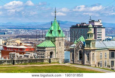 Porte Kent and Jesuit Chapel in Quebec City - Canada