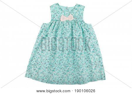 Baby dress with floral print