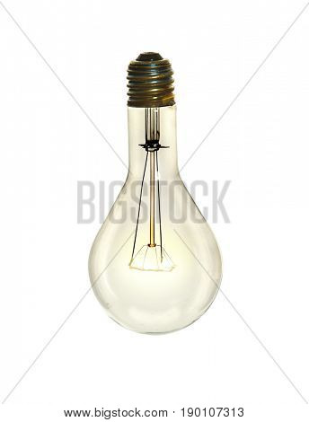 Incandescent lightbulb isolated over white background - With Clipping path