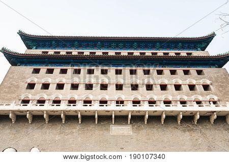 Wall Of Arrow Tower (jian Lou, Jianlou) In Beijing
