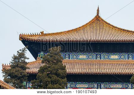 Decorated Roofs Of Hall For Worship Of Ancestors