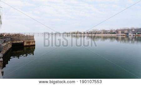 View Of Yi River And Manshui Bridge In Spring