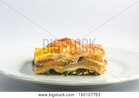 Vegetarian Lasagna With Eggplant And Spinach