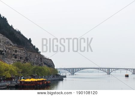 View Of Bridge On Yi River And West Hill