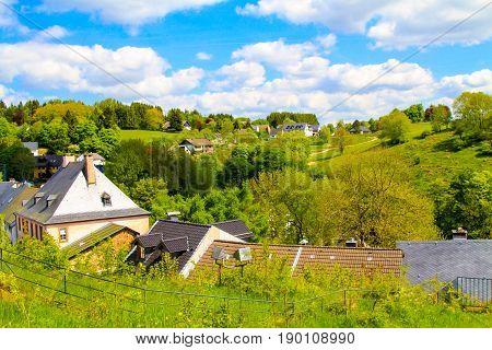 The view of Kronenburg in Eifel Germany