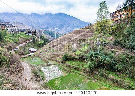 Way To Dazhai Village In Longsheng Rice Terraces