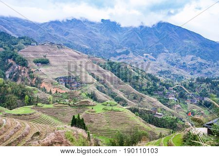 View Of Terraced Slope In Dazhai Country