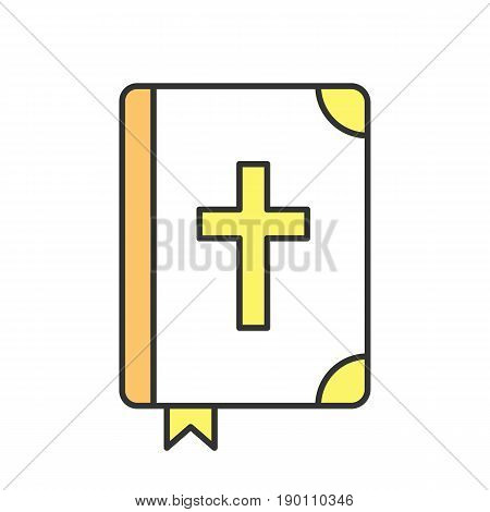 Holy Bible color icon. Isolated vector illustration