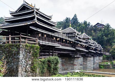 Dong People Chengyang Wind And Rain Bridge