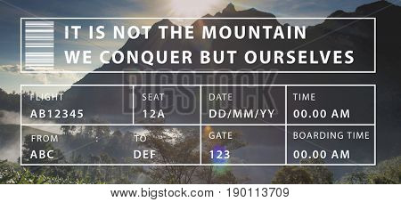 It Is Not The Mountain We Conquer But Ourselves Word Motivation
