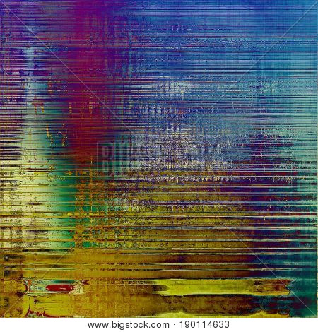 Old abstract grunge background for creative designed textures. With different color patterns: blue; cyan; yellow (beige); brown; green; purple (violet)