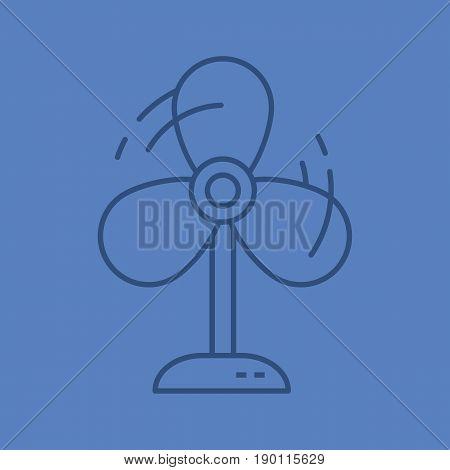 Fan color linear icon. Ventilator. Thin line contour symbols on color background. Vector illustration