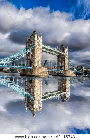 Famous Tower Bridge in London England UK