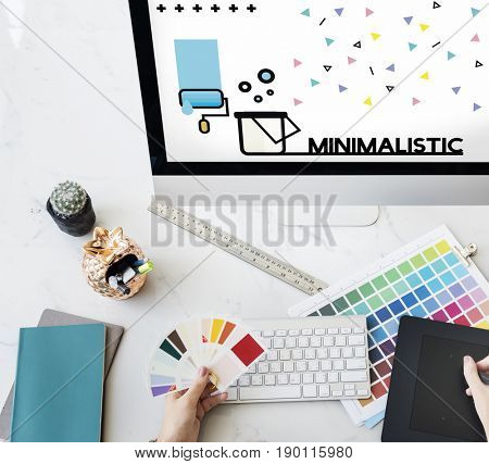 Graphic of creative art design on computer