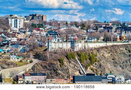 View of Levis town from Quebec City in Canada