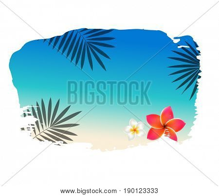 Summer Banner With Blot