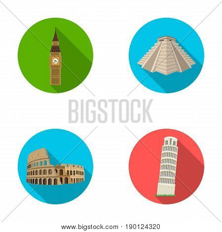 Building, landmark, bridge, stone .Countries country set collection icons in flat style vector symbol stock illustration .