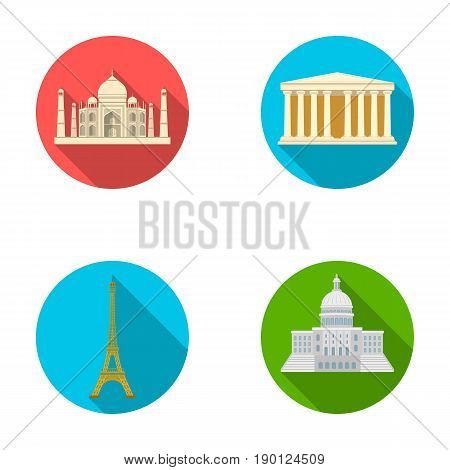 Building, interesting, place, tower .Countries country set collection icons in flat style vector symbol stock illustration .