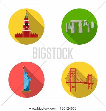Building, interesting, place, coliseum .Countries country set collection icons in flat style vector symbol stock illustration .