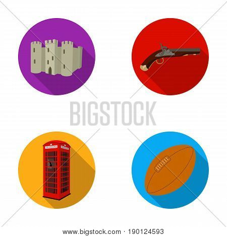 breed, dog, teapot, brewer .England country set collection icons in flat style vector symbol stock illustration .