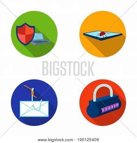 Hacker, system, connection .Hackers and hacking set collection icons in flat style vector symbol stock illustration .