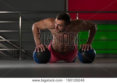 Push Ups With Medicine Ball