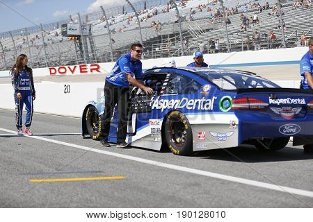 June 02, 2017 - Dover, DE, USA: Danica Patrick (10) gets ready to qualify for the AAA 400 at Dover International Speedway in Dover, DE.