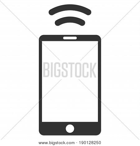 Mobile Irda Signal vector icon. Flat gray symbol. Pictogram is isolated on a white background. Designed for web and software interfaces.