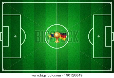 World Cup Soccer 2014 Final Brazil vs Germany logo background