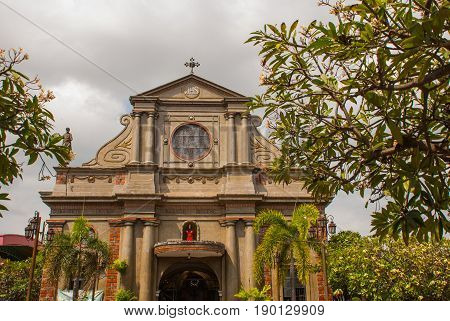 Dumaguete Cathedral at Dumaguete City, Philippines. Historic building