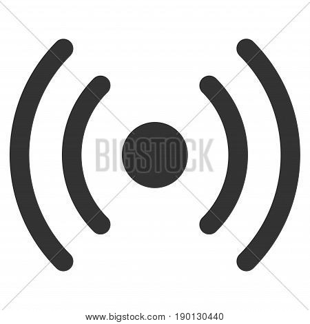 Wi-Fi Source vector icon. Flat gray symbol. Pictogram is isolated on a white background. Designed for web and software interfaces.