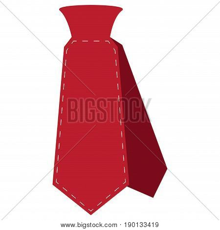 Isolated icon of a necktie, Vector illustration