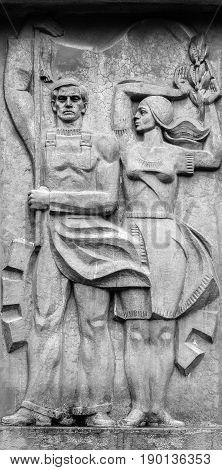 Soviet Allegorical Sculpture - Monument Times Former Soviet Union