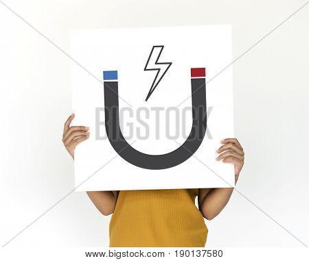 Illustration of science horseshoe magnetic