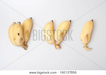 Isolated Ripe Cultivated Banana On White Background