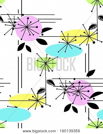 Abstract seamless modern pattern on white background