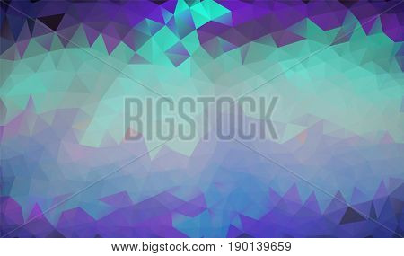 Abstract polygonal background in green, pink, purple, neon shades. There is a variant in the vector.