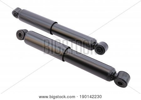 Oil shock absorbers on a white background isolation
