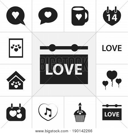 Set Of 12 Editable Passion Icons. Includes Symbols Such As Bubble, Joy, Love And More. Can Be Used For Web, Mobile, UI And Infographic Design.