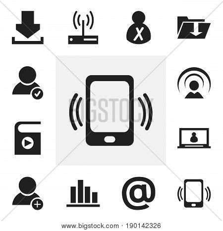 Set Of 12 Editable Web Icons. Includes Symbols Such As Blocked Person, Account, New Friend And More. Can Be Used For Web, Mobile, UI And Infographic Design.