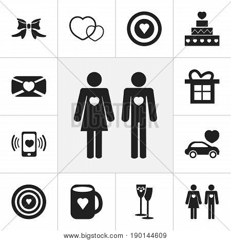 Set Of 12 Editable Passion Icons. Includes Symbols Such As Car, Mail, Celebration And More. Can Be Used For Web, Mobile, UI And Infographic Design.