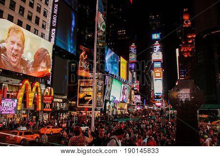 NEW YORK, USA - MAY 26, 2014: Times Square Night