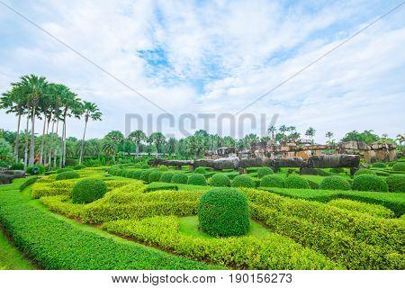 Pattaya THAILAND April 2017 : Stoneheng at Nong Nooch Garden Pattaya.