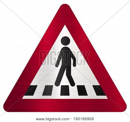 pedestrian crossing ahead sign road  traffic red