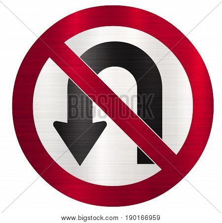 no u turns sign illustration  road  traffic