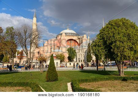 Hagia Sophia In Istanbul. Turkey