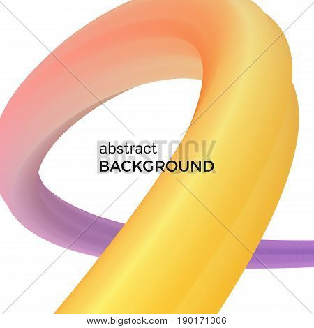 Color abstract composition of the yellow and purple watercolor waves. Vector abstract colorful background with bent dynamic form.