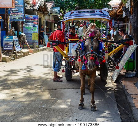 Horse Cart In Lombok Island, Indonesia